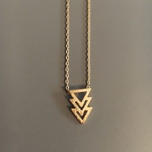 Lauren Conrad Thin Gold Chain Geographic Necklace